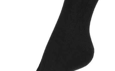 Jednobarevné ponožky s obrysem mašle černá