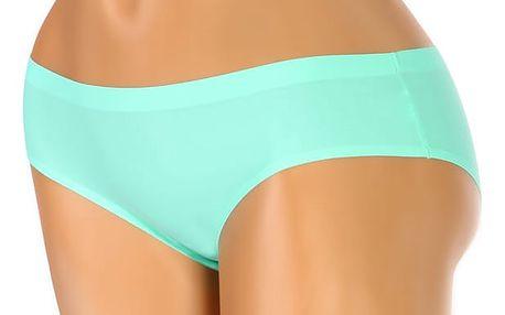Bezešvé kalhotky klasického střihu zelená