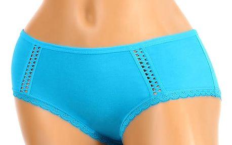 Jednobarevné nohavičkové kalhotky modrá