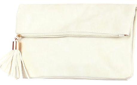 Dámské psaníčko se střapcem krémová