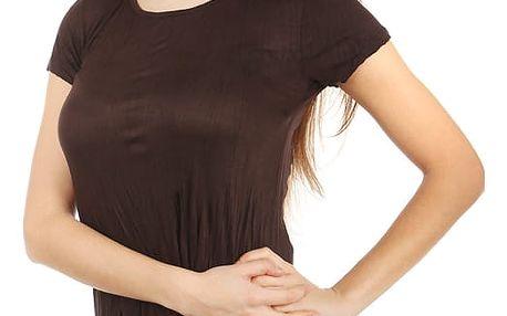 Pohodlné tričko s krátkým rukávem tmavě hnědá