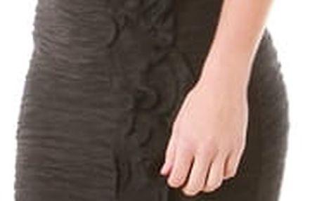 Šaty na jedno rameno černá