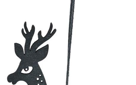House Doctor Dřevěná ozdoba Reindeer Black, černá barva, dřevo