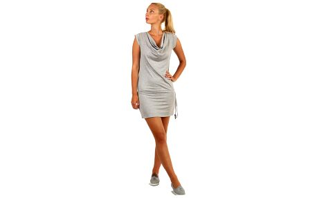Jednobarevné šaty pro volný čas bílá