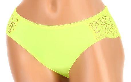 Kalhotky s krajkovou zadní částí žlutá