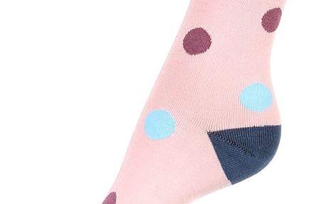 Bambusové ponožky s puntíky vínová