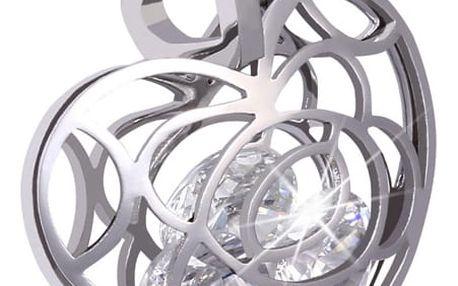Přívěsek srdce s velkými kamínky uvnitř - heart