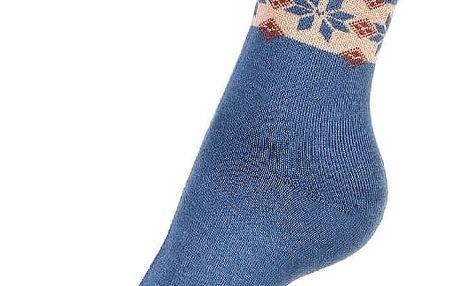 Thermo ponožky se vzorem béžová