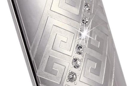 Přívěsek - obdélník s kamínky a ornamentem