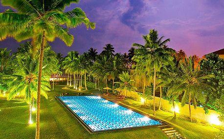 Hotel Taprobana Wadduwa, Srí Lanka, letecky, polopenze