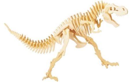 Dřevěná kostra dinosaura skládačka