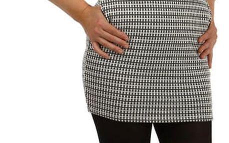 Úpletové dámské vzorované šaty tmavě šedá