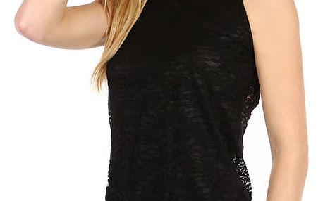 Dámský elegantní top s krajkou černá/bílá