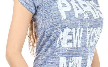 Žíhané triko s potiskem bílá
