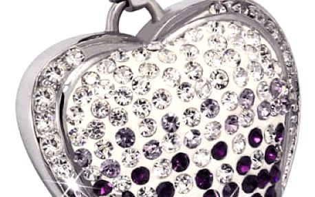 Přívěsek luxusní srdce s kamínky