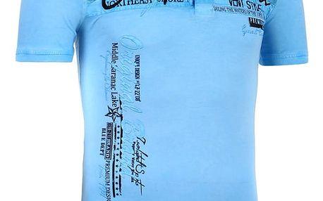 Pánské tričko s límečkem modrá