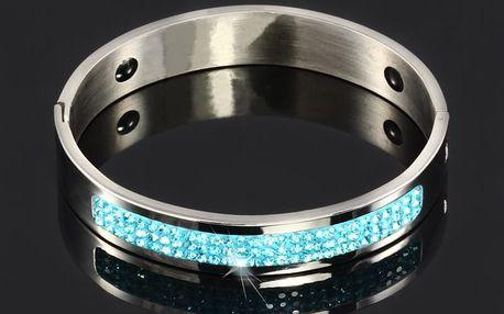 Elegantní náramek s modrými kamínky