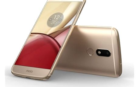 Mobilní telefon Motorola Moto M Dual SIM (PA5D0077CZ) zlatý