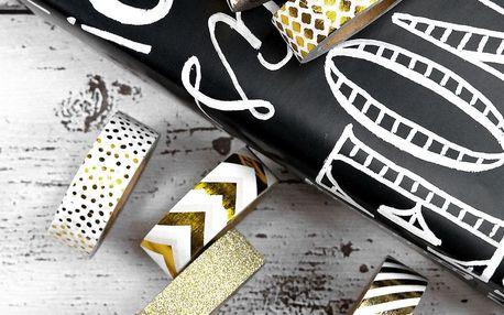 TAFELGUT Washi páska Gold Vzorek, zlatá barva, papír