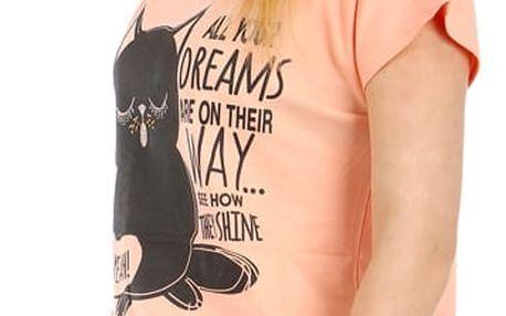 Moderní tričko s potiskem lososová
