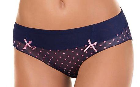 Průsvitné dámské kalhotky s potiskem fialová