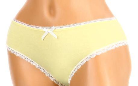 Bavlněné kalhotky s mašličkou žlutá