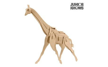 Dřevěné 3D Puzzle Divoká Zvířata Junior Knows