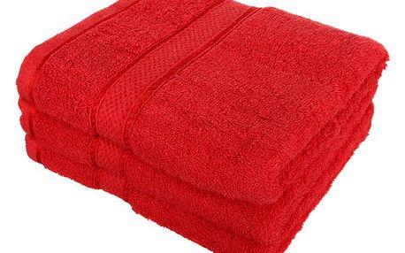 Froté ručník se vzorem Menheten červená