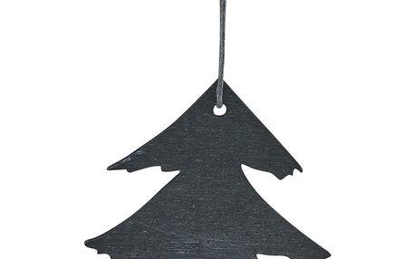 House Doctor Dřevěná ozdoba Pine Black, černá barva, dřevo