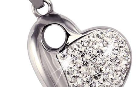 Přívěsek srdce s kamínky - heart