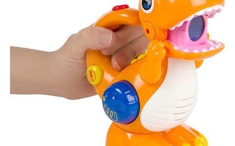 Nahrávač a Přehrávač Zvuků s LED Dinosaurus