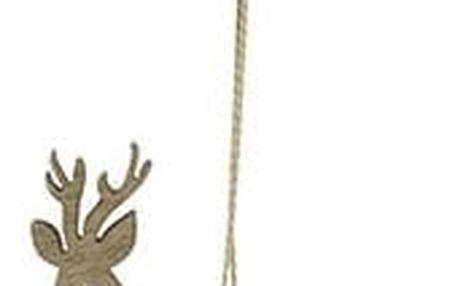 House Doctor Dřevěná ozdoba Reindeer Wood, hnědá barva, dřevo