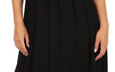 Letní jednobarevné maxi šaty černá