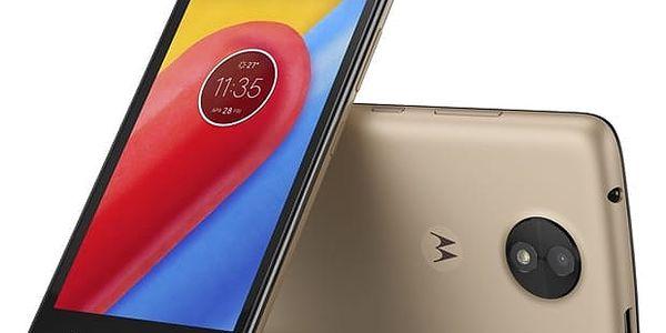 Mobilní telefon Motorola Moto C Dual SIM (PA6L0092CZ) zlatý