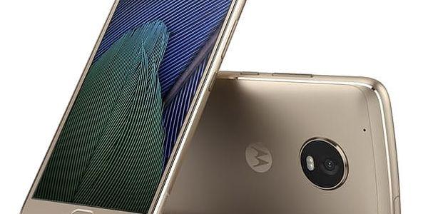 Mobilní telefon Motorola Moto G Plus 5.generace Dual SIM (SM4470AJ1N7 ) zlatý