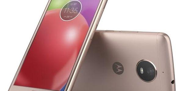 Mobilní telefon Motorola Moto E Dual SIM (PA750088CZ) zlatý