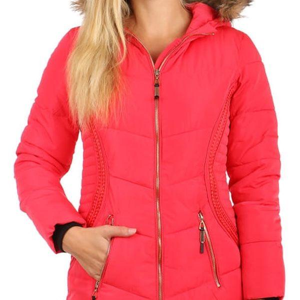 Příjemná a stylově zdobená bunda delšího střihu hnědá