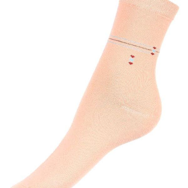 Dámské ponožky s proužkou černá2
