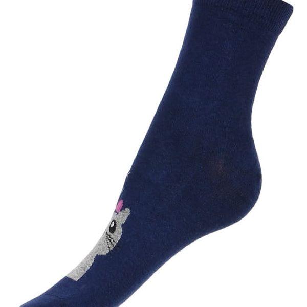 Vysoké ponožky s kočkou černá2