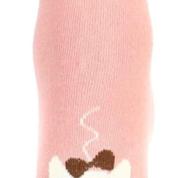 Vysoké ponožky s kočkou černá3