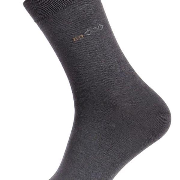 Bambusové pánské ponožky světle šedá