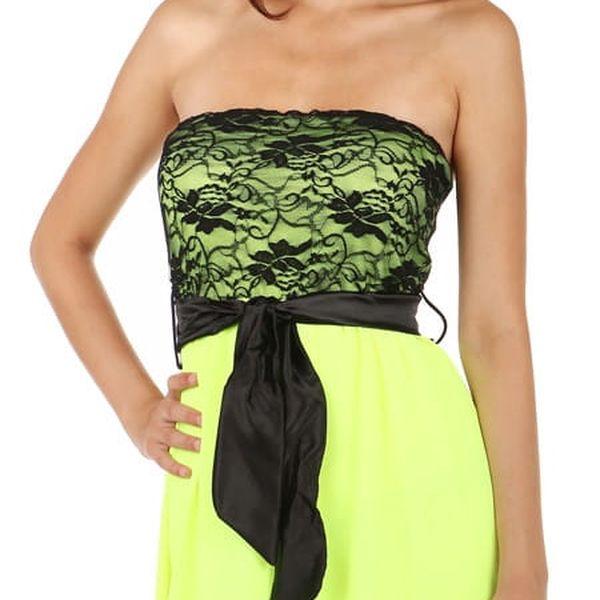Asymetrické šaty s krajkou černá2