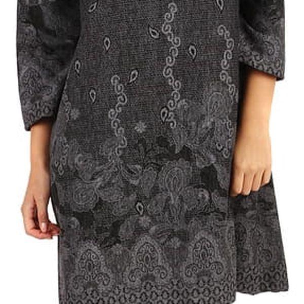 Dámské šaty áčkového střihu - i pro plnoštíhlé šedá