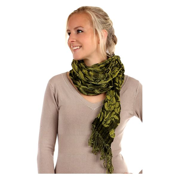 Šátek s kostkovaným vzorem zelená4