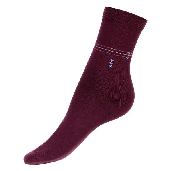 Dámské ponožky s proužkou černá3