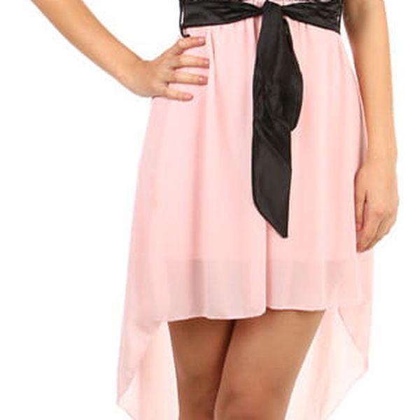 Asymetrické šaty s krajkou černá4