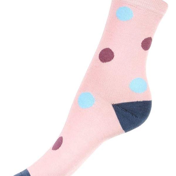 Bambusové ponožky s puntíky šedá