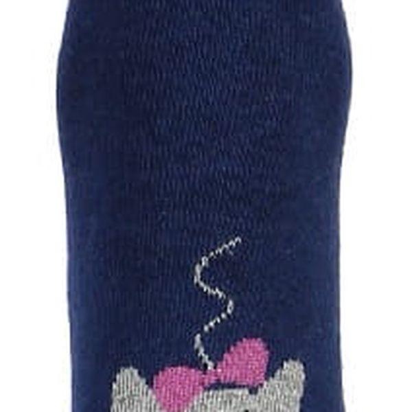 Vysoké ponožky s kočkou černá5