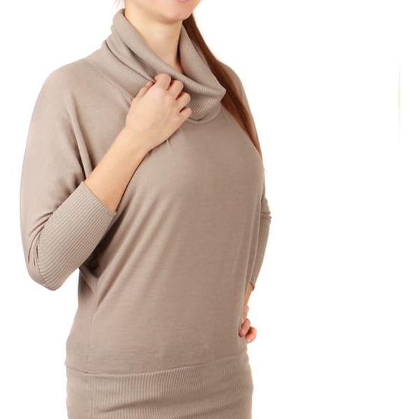 Dámský svetr s netopýřími rukávy světle šedá