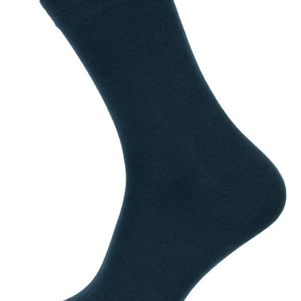 Pánské jednobarevné ponožky tmavě modrá4